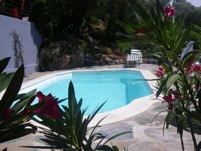 Quiet air-conditioned accommodation, 70 square meters, with pool