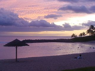 Ko Olina villa photo - Enjoy the most peaceful Hawaiian sunsets right out your door!