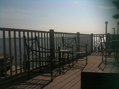 Deck view. Visit 360 Webtour http://www.easyviewmedia.com/welshresortproperties/