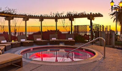 Adult Jacuzzi Area with Ocean View at the Carlsbad Inn Beach Resort