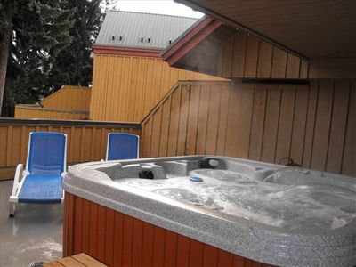 Hot tub patio is on 3rd level, giving you lots of privacy.