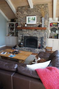 Blowing Rock house rental - Wood burning fireplace