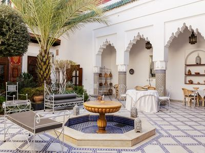 4 bedroom riad in the heart of the Medina can accomodate 8 people