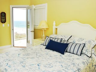 North Topsail Beach house photo - Oceanfront third floor penthouse suite with private bath and balcony