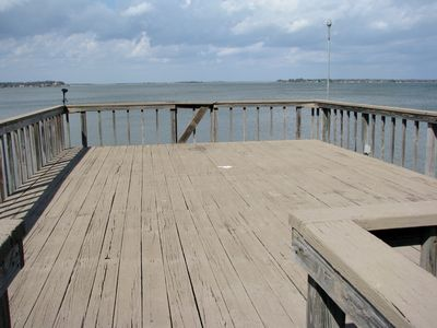 This is the top deck of the boat dock.  Great if you want to get some sun.