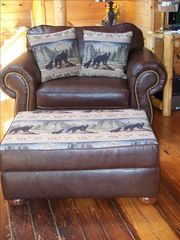 Gatlinburg cabin photo - Deluxe, handmade locally, sofa and reading chair
