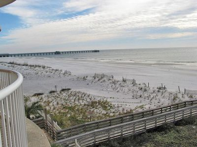 View of coastline to East - notice the State Park fishing pier.