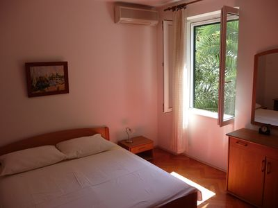 Lapad apartment rental - First bedroom with a king-size double bed ...