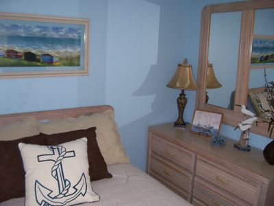 New Smyrna Beach condo rental - 2nd Bedroom with Queen bed