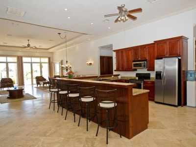 Marble and Cherry Kitchen with all amenities