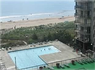 View of pool and ocean from balconey