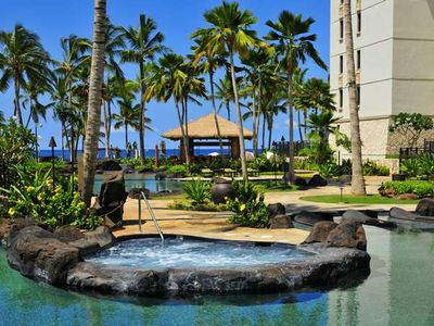 Ko Olina villa rental - One of the Three Relaxing Hot Tubs at the Beach Villas