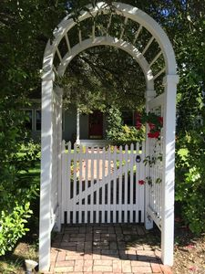 arbor gate to front door