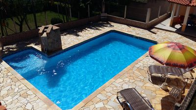 Rental Season Sitio, Sitio Pool, Sauna, Field, edicula, Wifi, Salon games.