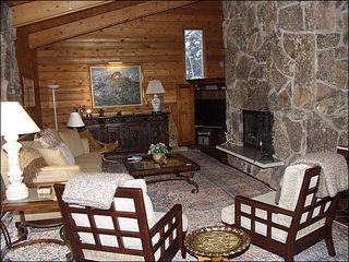 Snowmass Village house photo - Family Room with large stone fireplace