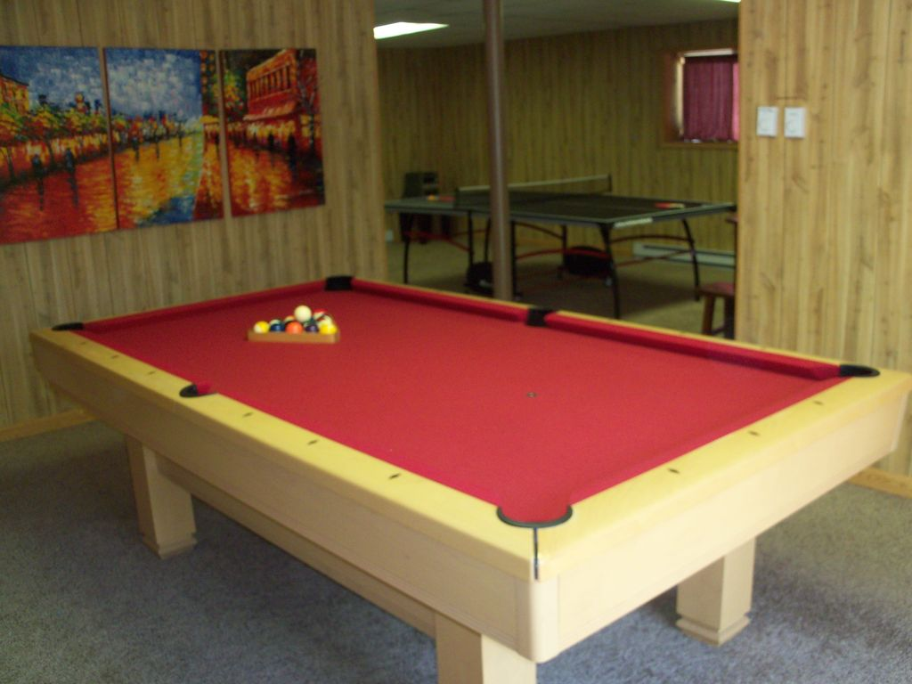 Huge Game Room With Slate Pool