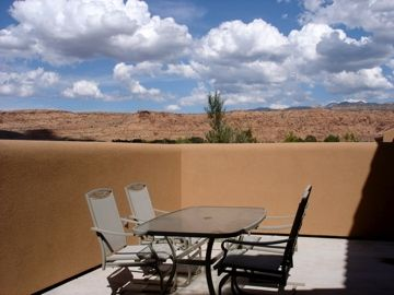 Moab condo rental - The view from the patio is enough of a reason to book this condo