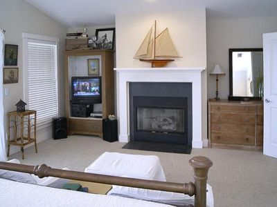Sitting Area and Fireplace in Master Bedroom Upstairs