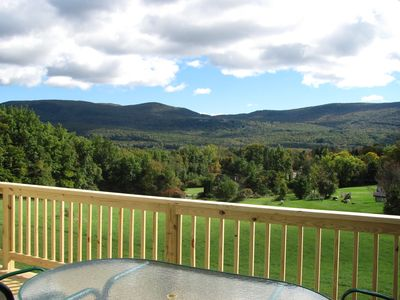 Manchester house rental - This is the beautiful view from the spacious deck!