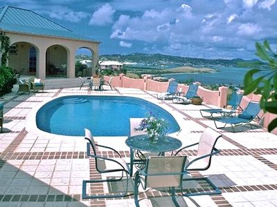 St. Croix villa rental - Royal Palms- with a view to Christiansted Harbour, one of many water views.