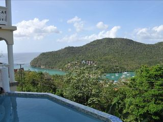 Overlooking Marigot Bay - Marigot Bay villa vacation rental photo