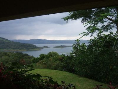View of Lake Arenal from Casa Esmeralda