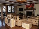 Living Area - Gas Fireplace, Private Balcony, Large TV - Vail townhome vacation rental photo