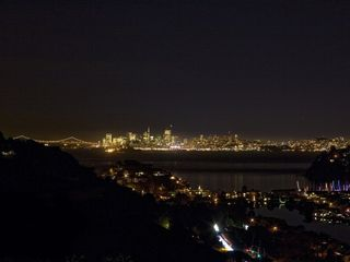 View from back yard of the San Francisco skyline. - Tiburon house vacation rental photo