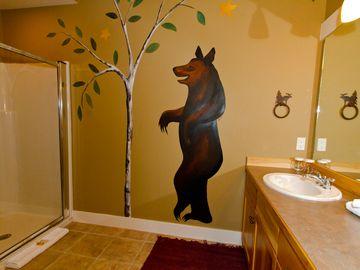 "Guest Bathroom with ""Yogi"" at your side"