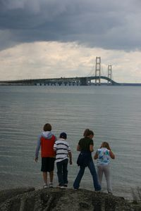 Minutes from the Mackinac Bridge and great viewing and stone-skipping.