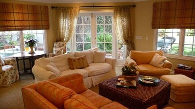 Living room and french doors to garden