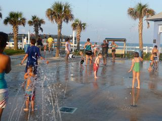 St. Augustine Beach condo photo - Spray play park across the street (at the pier) with bathrooms and showers.