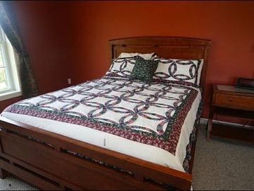 Queen Bed and Futon in the Fourth Bedroom