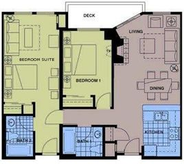 Solitude condo photo - Floor plan of our unit.