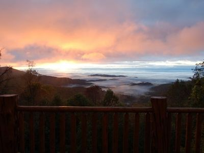 Spectacular Sunrise With Fog Over Wilkes