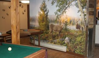 Lehighton house photo - hunting themed rec room with pool table and poker table
