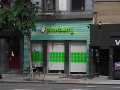 Pinkberry right around the corner