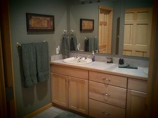 Guest Room Bathroom with Tub/Shower - Linen Closet - Pentwater house vacation rental photo
