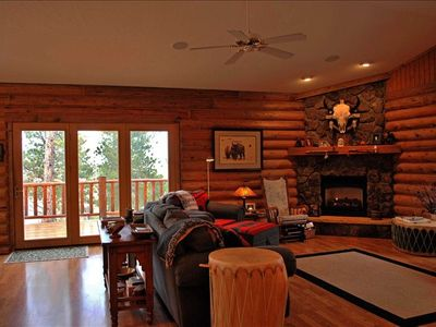 Living Room and French Doors to Outside Deck.  See virtual tour link for gallery