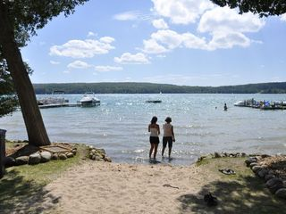 Wonderful Private Sandy Beach. - Walloon Lake cottage vacation rental photo
