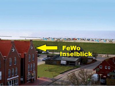 Marine + Inselblick v. D. Fewo- 50 meters from the sandy beach + 100 meters to the North Sea