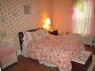 Pretty in Pink is this bedroom's theme.