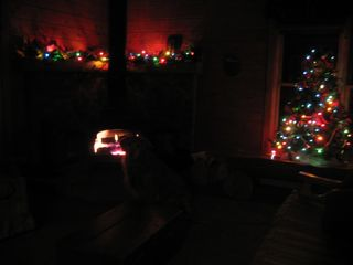 Jay Peak cabin photo - Feel the ambiance for the Holiday Season!