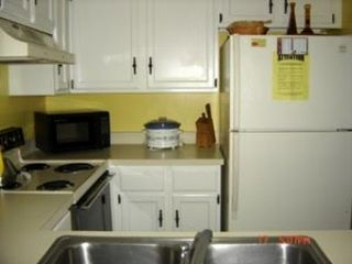 St. Augustine Beach condo photo - Fully equipped kitchen with ice maker,microwave...