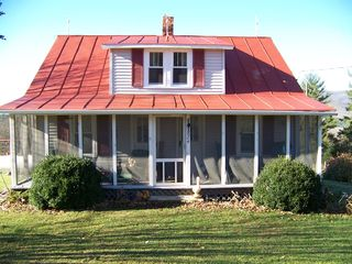 Lost River farmhouse photo - Classic WV Farmhouse, great screened front porch