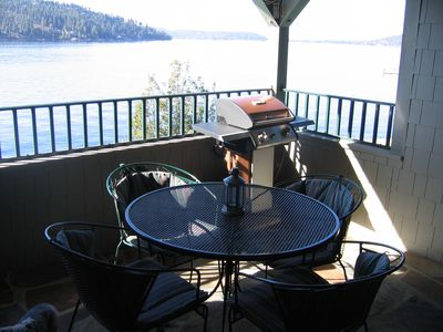 Gotham Bay condo rental - Lake view N/W Stevens Point, from covered deck