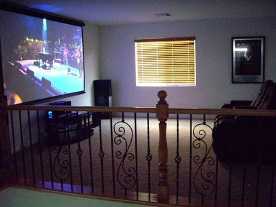 Home Movie Theatre with 6 large home theatre recliners