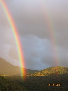 I captured this double rainbow on a trip to the nearby White Mts.