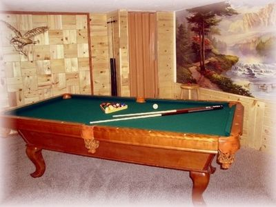 Billiards anyone? Island Park Idaho Vacation Cabin near Yellowstone