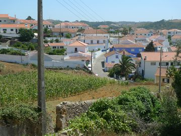 Santo Isidoro street view, a quiet old-fashioned village near Ericeira